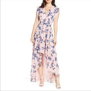 Eliza J Floral Chiffon Dress